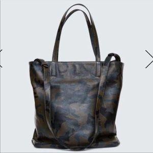 Bandier bag cami travel tote camo handbag green